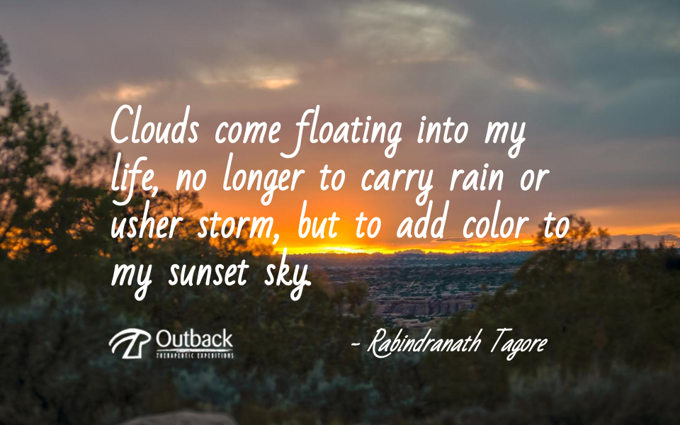 Clouds came floating into my life