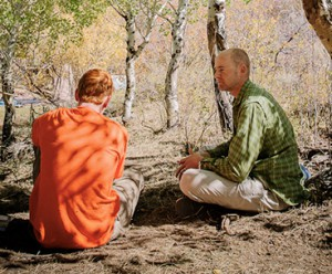A one-on-one therapy session with troubled teen in the wilderness