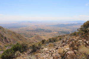 View from top of mountain over utah wilderness