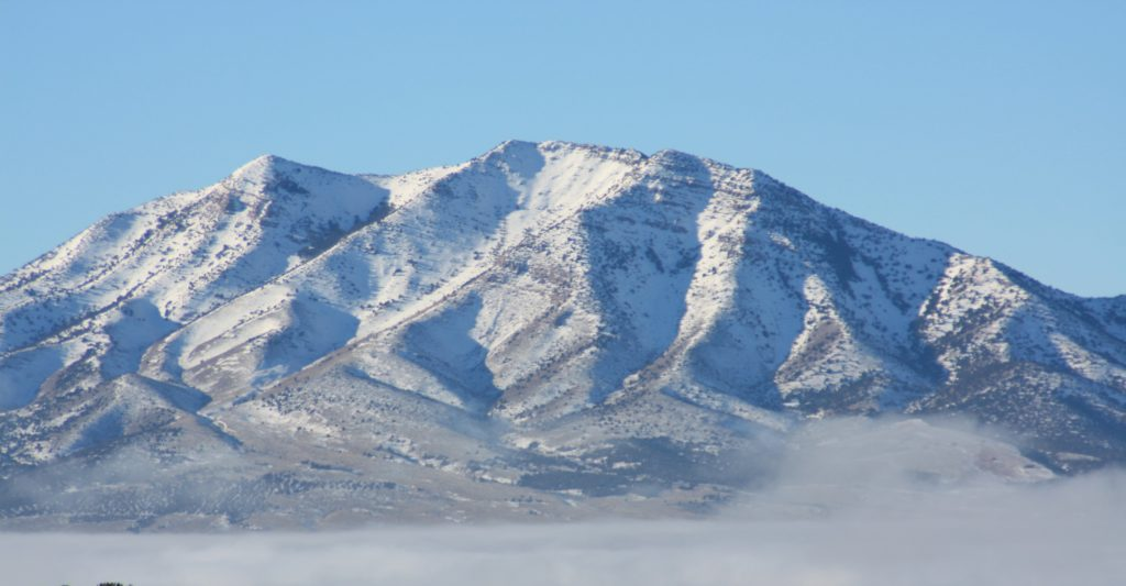 Mountain covered in snow in Utah