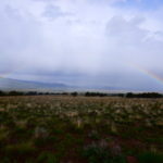 Rainbow over the green desert at Outback treatment wilderness therapy
