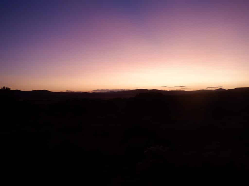A Sunset in the field at Outback Therapeutic Expeditions for Teens